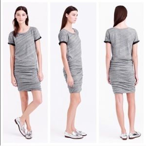 J. Crew Ruched Knit Short Sleeve Dress